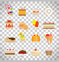 sweets and candies flat icons vector image