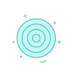 target aim archery focus success icon design vector image