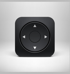 Technology Black Joystick App Icon vector