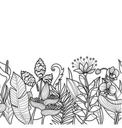 tropical seamless border vector image