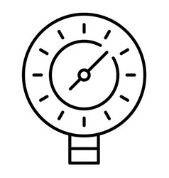 Welding manometer icon outline style vector