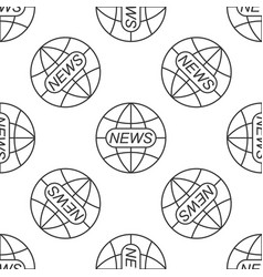 world and global news concept seamless pattern vector image