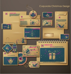 corporate christmas design vector image vector image