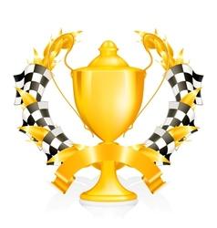 Emblem Racing vector image vector image
