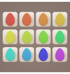 Flat Icons Easter Eggs vector image vector image