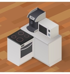 isometric kitchen stuff vector image