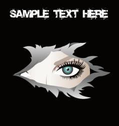 torn eye vector image vector image