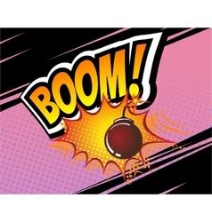 Boom Retro Comic Speech Bubble Cartoon vector image vector image