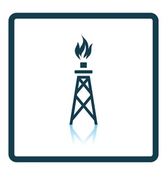 Gas tower icon vector image vector image