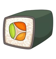 Japan sushi roll icon cartoon style vector image