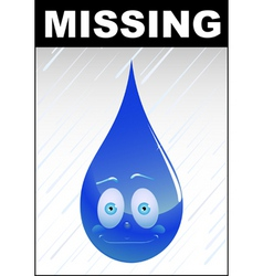 missing water vector image vector image
