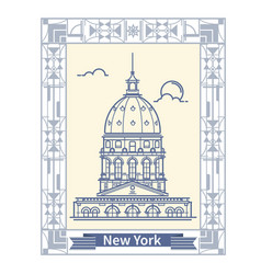 travel new york thin line new york vector image