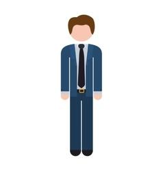 Full body man formal suit blue vector