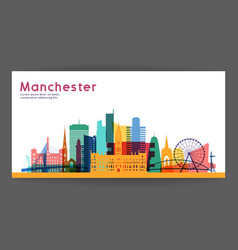 manchester colorful architecture vector image