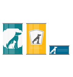 pet food can template in modern flat style icon vector image