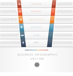 template infographic strips 6 position vector image vector image