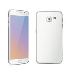 White color smartphone vector