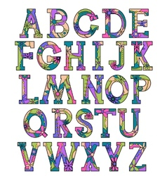 Colorful alphabet 2 vector image