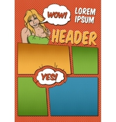 Comics Template vector image vector image