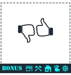 Dislike like icon flat vector image vector image