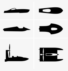hydroplane boat vector image vector image