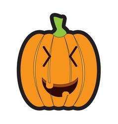 isolated happy jack-o-lantern vector image vector image