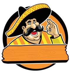 mexican with okay sign vector image