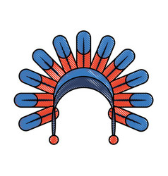 native american feather hat vector image