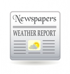 newspaper weather report vector image vector image