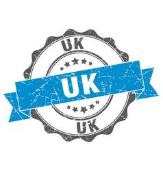 uk round ribbon seal vector image vector image