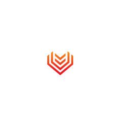 abstract shape line geometry business logo vector image