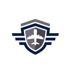 aircraft navigation shield logo vector image
