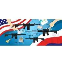 America Russia USA proxy war arms conflict world vector