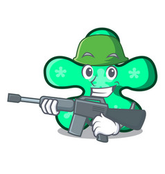 Army free form character cartoon vector