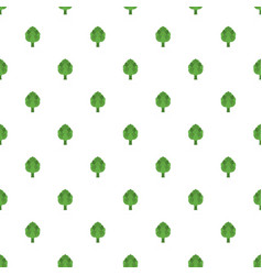 artichoke pattern seamless vector image