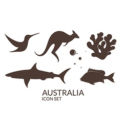 Australia Icon set vector image
