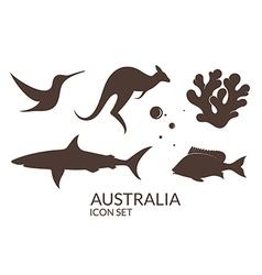 Australia icon set vector