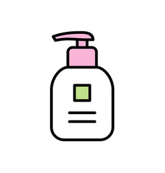 baby bath gel icon vector image