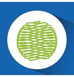 ball of yarn design vector image