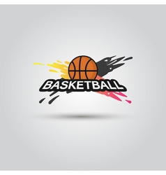 Ball symbol BasketBall Logo Badge Sport emblem vector