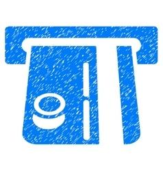 Bank Terminal Grainy Texture Icon vector