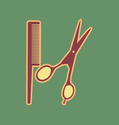 Barber shop sign cordovan icon and mellow vector