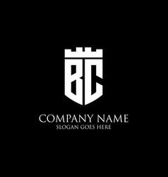 Bc initial shield logo design inspiration crown vector