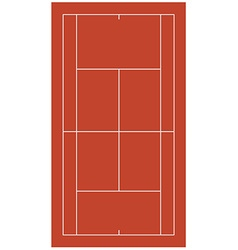 Brown tennis court vector