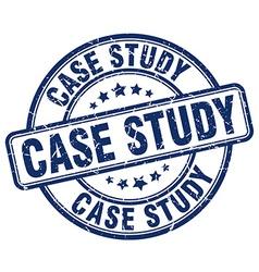 Case study blue grunge round vintage rubber stamp vector