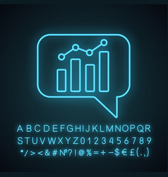 chatbot graph neon light icon vector image