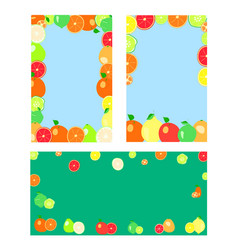 Citrus fruits on a blue background vector