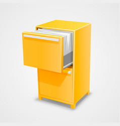 Closet safe with documents vector