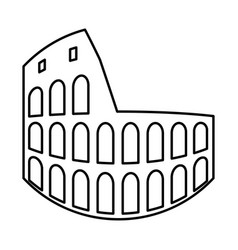 coliseum black icon vector image