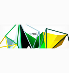 colorful geometric triangle background vector image